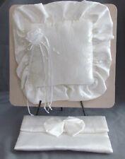 Beautiful Wedding Ring Bearer White Square Pillow & Purse