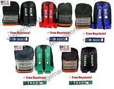 JDM Backpack Bride Bag Takata Racing Harness Red Blue Straps Green SP Turbo 2JZ