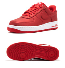 new style 6fe67 f085b Nike Hommes Air Force 1 07 Lv8 Bas Af1 Baskets Action Rouge Blanc 718152-607
