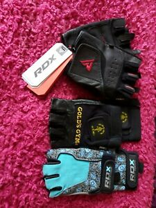 3 pairs Gym gloves women- all new