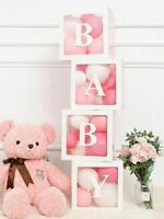 Transparent Box Baby Shower Decorations Name Age Baby Birthday Party Home Gift