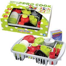 Ecoiffier Geschirrset mit Abtropfgitterkorb Geschirr Spielzeug Kinderküche NEU