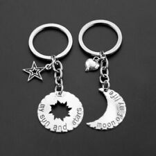 Thrones KeyChain His Hers Khal Khaleesi Ring Sun Moon Stars Pendant For Unisex