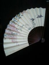 Vintage Hand Painted Asian Hand Fan Fairies Signed Peoples Republic of China