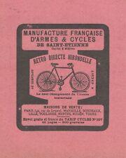 Z9392 Cycles Retro Directe HIRONDELLE -  Pubblicità d'epoca - 1909 Old advert