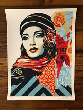 Shepard Fairey Obey Fire Sale screen print signed and numbered Andre Supreme Art