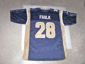 Vintage St Louis Rams MARSHALL FAULK Football Jersey youth Large Never Worn