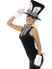 Adult March Hare Tea Party Fancy Dress Hat Kit Wonderland Rabbit Set by Smiffys
