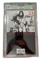 New Avengers #23 Sketch Cover Signed Olivier Coipel CGC 9.4 Scuff Marks On Case