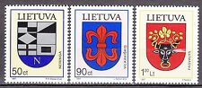 LITHUANIA 1997**MNH SC# 586 - 588 Arms - Coat of Arms