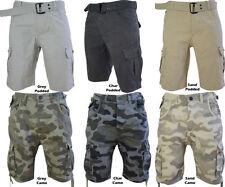 Cotton Camouflage Slim Shorts for Men