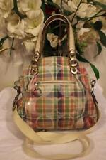 Coach Poppy Madras  Satchel Handbag 19697 bag purse  (130