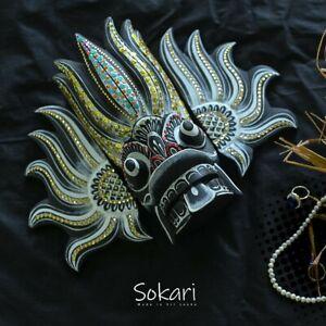 El Dorado Handmade Wooden Mask Made In Sri Lanka Traditional Culture Modern Hype