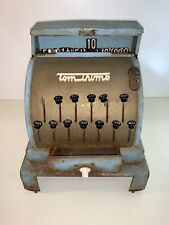 Vintage 1950's Blue Tom Thumb Cash Register Toy Western Stamping Corp. 2