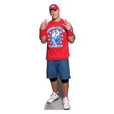 JOHN CENA WWE Wrestler Lifesize Red Tee CARDBOARD CUTOUT Standup Standee Poster
