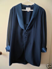 Laura K brand teal coloured buttoned Evening dress jacket size 14 Polyester