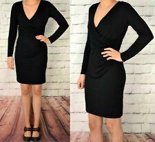 LIPSY  UK 12 LADIES BLACK ULTIMATE LONG SLEEVED PARTY DRESS 328