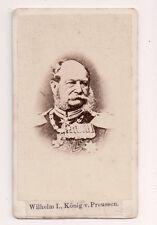 Vintage CDV Kaiser Wilhelm I, German Emperor, King of Prussia