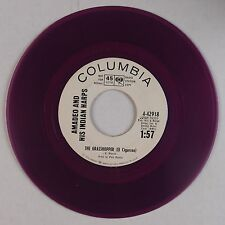 AMADEO and INDIAN HARPS: Grasshopper PURPLE WAX Columbia Promo 50s latin HEAR