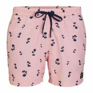 Bjorn Borg L.A. Mini Palms Print Boys Swim Shorts, Candy Pink
