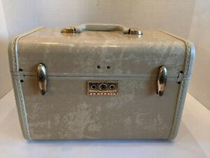 Vintage 1950's Samsonite Streamlite Cosmetic Case Train Case With Mirror No Key