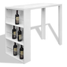 Kitchen Table Bar Style White Dining Breakfast Cafe Pub Wine Stand Furniture