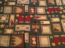 "Debbie Mumm Fabric MUMMS THE WORD Quilt Fabric Christmas Tags 29 x 44"" Gift Tags"