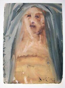 """Salvador Dali Litho """"Plange, Virgo, accinta sacco"""" Biblia Sacra 1967 Hugh Hefner"""