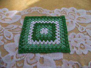 "Dollhouse Miniature Crocheted Afghan / Blanket 3"" 100% Cotton"