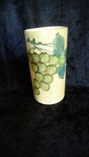 Sara Hand Painted Pottery Vase / Wine Bottle Cooler Grapes Italy