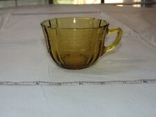 Vintage Amber Glass Depression Glass 1 Tea / Coffee Cup ~