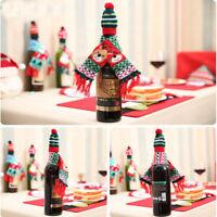 Bouteille de vin de Noël Vêtements Xmas Santa Reindeer Bouteille de table Décor