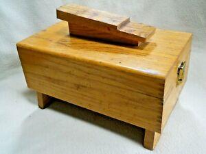 Vintage Oak Shoe Shine Box