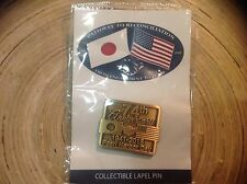 HTF PEARL HARBOR HAWAII USS ARIZONA LAPEL PIN WW2 74th anniversary 1941 to 2015