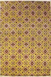 Rugstc 5x8 Senneh Chobi Ziegler Gold  Rug,Natural dye, Hand-Knotted,Silk/Wool