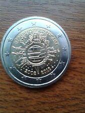 """pièce neuve 2 euros 2012 """"10ans"""" france"""