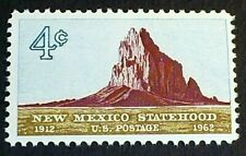 U.S. Scott 1191- New Mexico Statehood, 50 Years, Shiprock- MNH OG F-VF 4c 1962