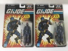 GI Joe 25th Anniversary Cobra Trooper MOC Lot X2 Army Builder Soldier Black Mask