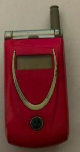 READ FIRST Motorola T720 Pink Verizon Fast Shipping Good Used Parts Repair