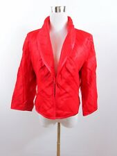 ESCADA Women's Red Silk Formal Wedding Blazer Jacket Size DE 38 UK 12 IT 44 BD7