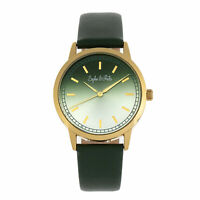 Sophie and Freda San Diego Leather-Band Watch - Green
