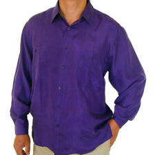 """New 100% Silk Shirts for Men S,M, L, Brand Name """"SURPRISE"""" NWT Purple"""