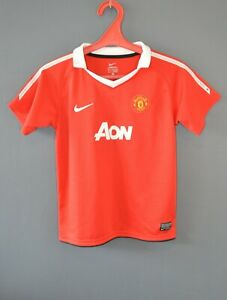 Manchester United Football Soccer Vintage Shirt Jersey 2010/2011 Size Youth XS