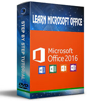 LEARN MICROSOFT OFFICE 2016 SIMPLE VIDEO TUTORIALS NEW 2 PC DVD