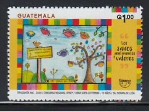 GUATEMALA Healthy Feelings & Values UPAEP MNH stamp