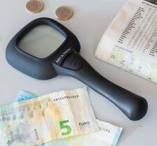 Lupe Geldscheinprüfer Vergrößerung Vergrößerungsglas Lesehilfe mit Licht