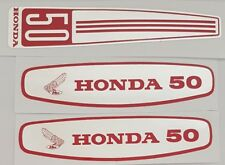 HONDA C50 CUB FUEL TANK AND FRONT COVER DECALS EARLY BIKE VERSION LAMINATED.