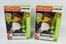 2 Pack 75W Reptile Heat Lamp Set Uva Heater Pet Light R80