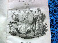 1824 ALMANACH des MUSES GALANTERIE FEMMES AMOUR VERS PROSES GRAVURE LIVRE BOOK