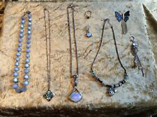 Selection of Vintage Costume Jewellery incl  New Zealand Rhodium plated pendant